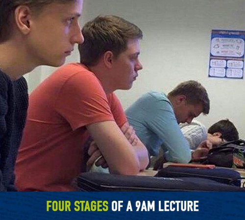 The Four Stages of a Lecture…
